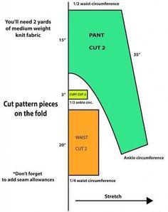 Adult Harlem pant pattern