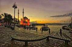 Early morning Ortakoy bosphorus istanbul