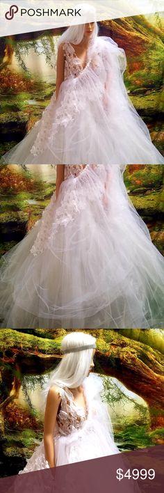 c2a6e3c92c ADHIRA 4pc 3D Lace Tulle Sari Wedding Ballgown