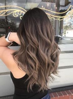 Long Wavy Ash-Brown Balayage - 20 Light Brown Hair Color Ideas for Your New Look - The Trending Hairstyle Brown Hair Balayage, Brown Hair With Highlights, Brown Blonde Hair, Hair Color Balayage, Ombre Highlights, Light Brunette Hair, Ashy Balayage, Caramel Highlights, Gray Hair