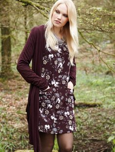 Fair Trade Nomads Clothing Autumn Winter Outfits Casual Dress Long Cardigan Burgundy Fall