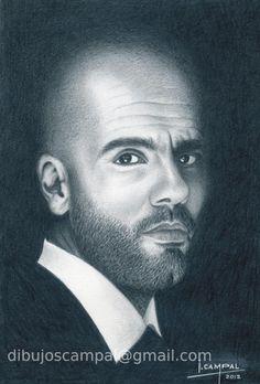 Pep Guardiola. Colección retratos a lápiz. Año 2012