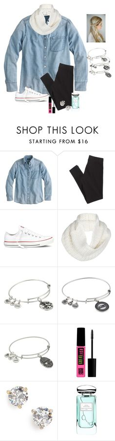 """""""When tomorrow is Friday and the first day of fall!!!😱😁👏🏻👏🏻"""" by raquate1232 ❤ liked on Polyvore featuring J.Crew, American Eagle Outfitters, Converse, UGG Australia, Alex and Ani, Maybelline, Kate Spade and By Terry"""