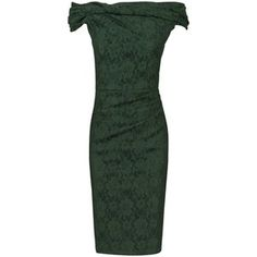 Jolie Moi Bardot Neck Dress, Dark Green