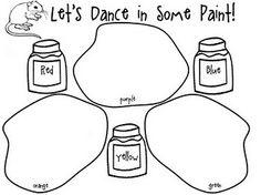 mice, color mix, mouse paint, art lesson, kindergarten monkey, mous paint, paint colors, paints, rainbow