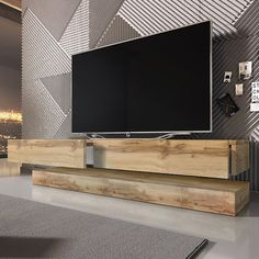 DIY TV Stand Ideas You Can Build Right Now – Architecture Art. Find out our other images similar to this floating wall mount tv stand mounted unit at gallery below and if you want to find more ideas about wall mount unit. Floating Tv Unit, Floating Tv Stand, Floating Wall, Living Room Tv, Living Room Remodel, Living Spaces, Hanging Tv On Wall, Wall Mounted Tv, Tv Stands Uk