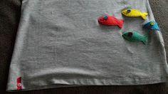 Phatufa: T-Shirt com aplicações de feltro - Peixes