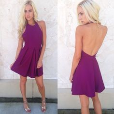 """Flirty, fun, & fantastic ✨ Shop the NEW """"Magenta halter dress"""" ($29.99) available at #sophieandtrey and online at www.sophieandtrey.com! #ootn #newarrival #freeshipping #dress"""