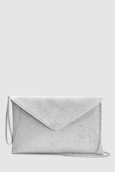 Womens Next Silver Glitter Envelope Clutch Bag - Silver   womenssilverclutchbag Glitter Envelopes 57872fbc3341