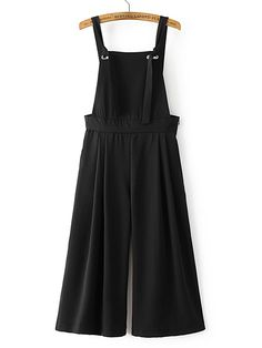 Material: Cotton Blends Color: Black Pattern Type: Plain Neckline: Strap Style: Casual, Work Sleeve Length: Sleeveless Season: Spring, Fall Waist Size(Cm): Hip Size(Cm): Length(Cm): Size Available: S,M,L Long Overalls, Black Overalls, Bib Overalls, Backless Jumpsuit, Jumpsuit With Sleeves, Indian Reception Outfit, Outfits For Teens, Cool Outfits, Looks Hippie