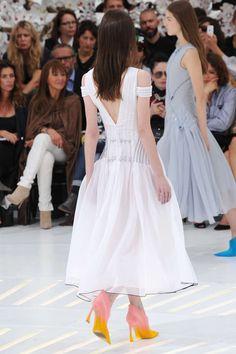 Défilé Dior Haute-Couture  Automne/Hiver 2014 Love the colourful shoes !