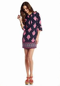 crown & ivy™ Bell Sleeve Printed Shift Dress