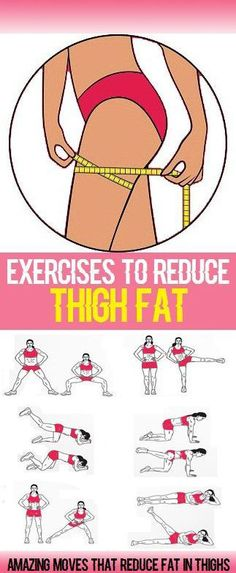 Inner-thigh fat can be hard to target and is often overlooked in a typical workout routine. However, by including the following 8 exercises in your workout plan you will see noticeable changes to your thighs in a matter of weeks, and finally get that nice burn fat thighs