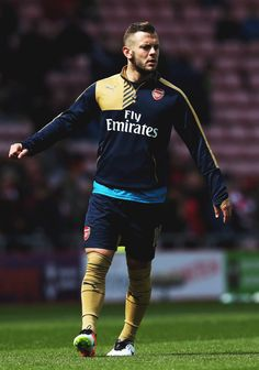 Jack Wilshere Photos Photos - Jack Wilshere of Arsenal warms up prior to the Barclays Premier League match between Sunderland and Arsenal at the Stadium of Light on April 2016 in Sunderland, United Kingdom. - Sunderland v Arsenal - Premier League Arsenal Premier League, Premier League Matches, Jack Wilshere, Barclay Premier League, European Football, Sunderland, Barclays Premier, Soccer, April 24