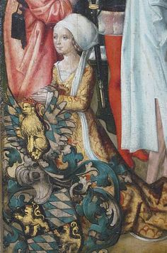Posthumous portrait of Margaret of Mosbach,Countess Palatine,1490s