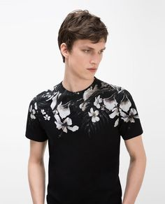 Image 2 of FLORAL YOKE T-SHIRT from Zara