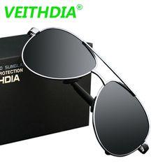 c45c7ddfd14 2017 VEITHDIA UV400 Pilot Yurt Sun Glasses Men Polarized Sunglasses Brand  Logo Design Driving Glasses Goggles Oculos de sol 1306