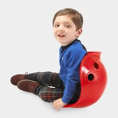 Bilibo Toy - It's a sit and spin, cradle, tunnel, storage bin, and more. Children create countless uses for Bilibo, both indoors and out. $30.00 from MOMA.org