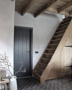 I might put a ledge and brace door on the cloakroom. It could be restored wood, or painted Modern Cottage, Cottage Style, Moore House, Scandinavian Home, Panel Doors, Cozy House, Home And Living, Home Projects, Future House