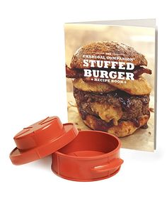 Take a look at the Charcoal Companion Stuffed Burger Recipe Book & Burger Press Set on #zulily today!