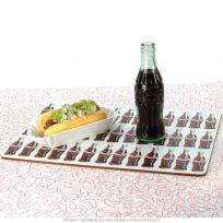 Coca-Cola Soda Bottles Cork Kitchen Placemat Set 4