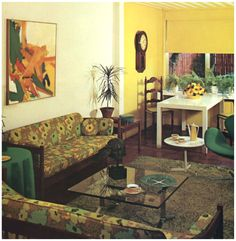 1960s (1970s Crossover) Living Room.