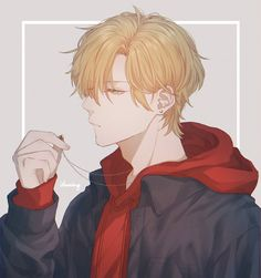 Manga Anime, Oc Manga, Manga Boy, Handsome Anime Guys, Hot Anime Guys, Cute Anime Boy, Anime Boys, Blonde Anime Boy, Blonde Guys
