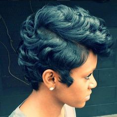 Short Sassy Hair, Short Hair Cuts, Short Hair Styles, Pixie Styles, Pixie Cuts, Short Pixie, Short Relaxed Hair, Dope Hairstyles, Black Hairstyles