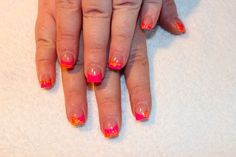 pink and orange these are my nails:)
