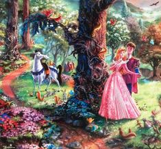 Thomas Kinkade - Disney - Sleeping Beauty