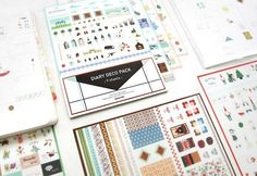 Diary Deco Sticker Pack by AdoreNeko on Etsy, $6.50