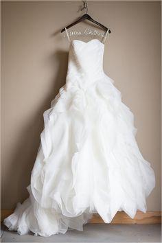 Organza wedding Dress #weddingdress #weddingchicks http://www.weddingchicks.com/2014/01/29/shabby-chic-barn-wedding/
