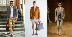 Printed Pants men's fashion New York Fashion Week Spring 2014 Stylish Mens Fashion, Mens Fashion Suits, Blazer Fashion, 2014 Fashion Trends, Latest Trends, Mens Trends, New York Fashion, Men's Fashion, Pulls