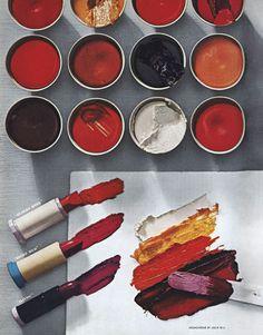 Vintage Harper's Bazaar... Lipstick layout showing Brodovitch's painterly approach (1945)