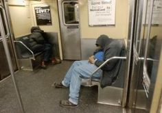 The citys homeless are moving underground. The number of people living on the subways jumped 13% from last year, while those on the streets dropped by 2%, according to city stats.