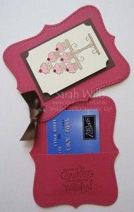 gift card holder - alternate version - use brad in center top.....