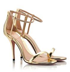 977a45744ec Sebastian Gold leather high heel Swarovski crystal sandals  BridalSandals   WeddingSandals  Bridal  Sandals  CrystalSandals. Fratelli Karida
