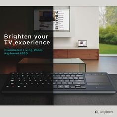 Watching TV and surfing the web - all from your couch, with the Illuminated Living-Room Keyboard K830. Score.