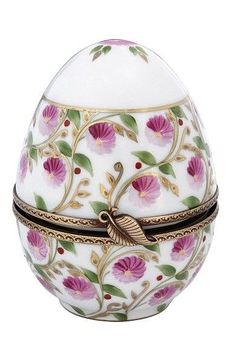 Vintage Pompadour Limoges egg box