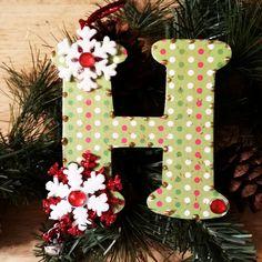 Custom Christmas Ornament, Glitter Ornament, Wood Christmas Decoration, Custom Wood Ornament, Wood Christmas Ornament, Snowflake Ornament by LybelleCreations on Etsy