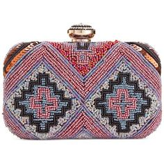 Inc International Concepts Bertha Beaded Clutch, (£80) ❤ liked on Polyvore featuring bags, handbags, clutches, multi, special occasion clutches, beaded purse, multi colored handbags, multi color purse and evening handbags