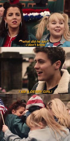 i am a derry girl james, erin, orla, clare, michelle Tv Series To Watch, Series Movies, Tv Quotes, Girl Quotes, Movies Showing, Movies And Tv Shows, Skam Wallpaper, British Tv Comedies, Father Ted