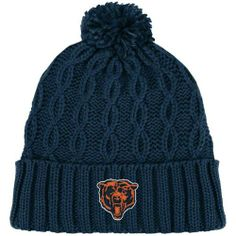 Chicago Bears Retro Pom Cuffed Knit Hat by Reebok. $14.99. Quality embroidery. 100% acrylic. Solid color pom. Officially licensed. One size fits most ages 14+. Add a little bit of old school flair to your hat wardrobe with this Chicago Bears Retro Pom cuffed knit hat. This piece of Bears pride will keep you warm and cozy during the harshest months of the NFL season. Features a braided crown with ribbed cuff and flat embroidered team retro logo to give it that cool vin...