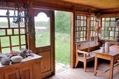 Drewniany ganek