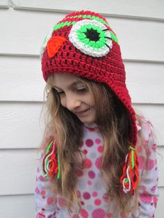This hat is READY TO SHIP!  A D O R A B L E OWL HAT!!!  My 6 year old Grand daughter is modeling for me ! I am able to make in any size from Newborn
