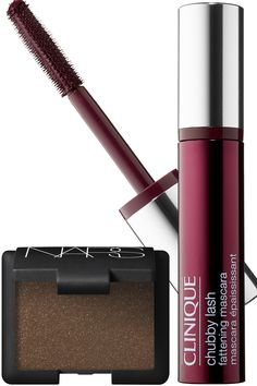 Green Eyes: Brown Shadow + Maroon Mascara - interesting eye makeup combos to try out
