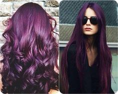 Dark purple hair color