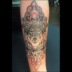 Deirdre Aikin #tattooparadisedc #tattoosofinstagram #wolf #customtattoo