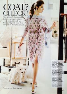 Amazing spring coat, hair, shoes and...well...everything via British Glamour April 2012