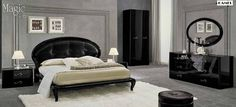 Glamorously designed black lacquered bedroom set Magic - the stunning bedroom set from Camelgroup (Italy), two night stands, double dresser and mirror. This stunning Italian bedroom set from Camelgroup features all the furnishings required for creating a plush and inviting respite. The collection bo...